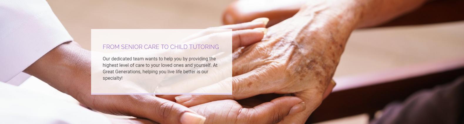senior care to child tutoring